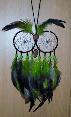 Chouette Attrape-rêve owl dreamcatcher UV . par Hejan sur Etsy