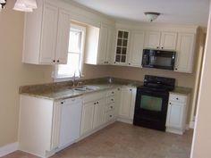 Good idea for Mark's remodel but reversed.    L Shaped Kitchen Layouts | Kitchen Design, Kitchen Design İdeas