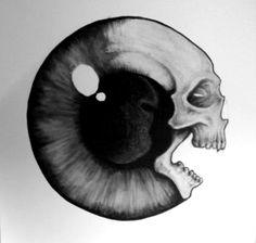 I love the simpleness of skull tattoos