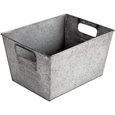 Better Homes and Gardens Small Galvanized Bin, Silver ~ Laundry room storage