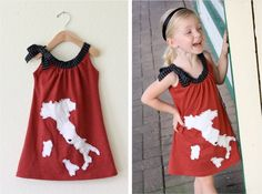 MADE: link on this page to a fabulous pdf instructional for making this dress and also for making your own stencil!