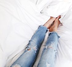 Style with ripped jeans