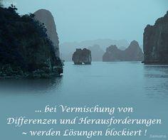 ... bei Vermischung von Differenzen und Herausforderungen ~ werden Lösungen blockiert❤❤❗
