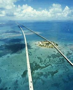 This is a 7 mile bridge located in the Florida Keys. I want to be able to drive over this because it is completely over the ocean.