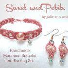 SWEET AND PETITE Handmade Macrame Earrings and Bracelet Set