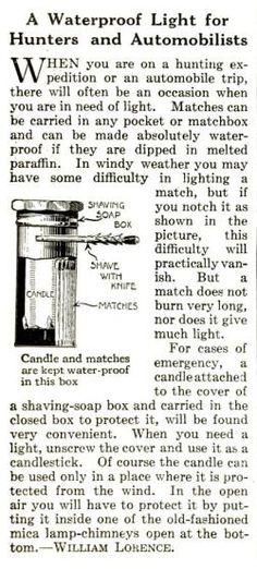 Bushcraft e medicina: candela e fiammiferi waterproof