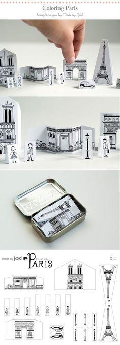 Your Pocket DIY Paper City Paris via Made by Joel - carry Paris in your pocket!DIY Paper City Paris via Made by Joel - carry Paris in your pocket! Paper Art, Paper Crafts, Diy Crafts, Little Presents, Puffy Paint, Diy Papier, Altoids Tins, Ideias Diy, Paris Party