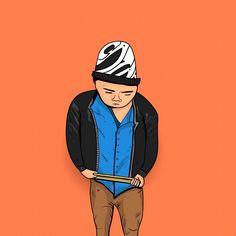 Ilustracion para baterista #illustration #orange #bateria