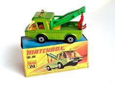 Matchbox Superfast, Toe Joe Metallic Green,Original Box, Lesney of England, Matchbox New 74, Green Town Truck,Vintage Matchbox, by RibbonsandGlass on Etsy