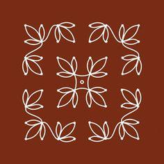 Simple 8 x 8 dot rangoli design