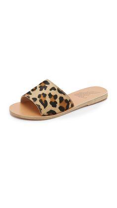 Ancient Greek Sandals Taygete Haircalf Slides - Leopard | SHOPBOP.COM saved by #ShoppingIS