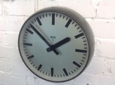 Vintage School Wall Clock/ Made in Poland Large Bakelite Retro Industrial Clock Wall Clock Ikea, Industrial Clocks, How To Make Wall Clock, Vintage School, Poland, Retro, Ebay, Retro Illustration