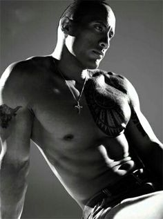 Dwayne Johnson  Because... (tilts head while staring at his arms)... I forget.  Reasons!  Because of reasons!