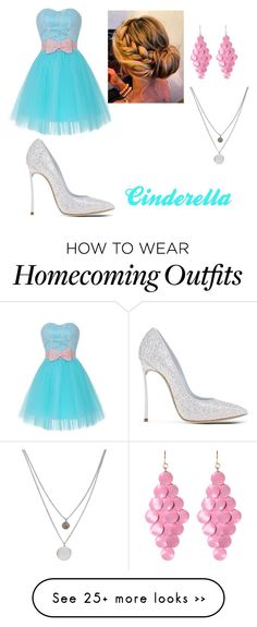 """""""Cinderella theme for homecoming"""" by kaitlyn-sweeney on Polyvore featuring Casadei, Amrita Singh and Kenneth Cole"""