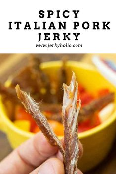 I love Spicy Italian sausage and this Spicy Italian Pork Jerky recipe nailed that taste. Packed full of flavor with just enough heat to get you going. Turkey Jerky Recipe Dehydrator, Dehydrator Recipes, Jerkey Recipes, Pork Recipes, Bologna Recipes, Beef Jerkey, Homemade Jerky, Making Jerky, Spicy