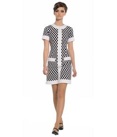 Brand: Marmalade Key Points: Marmalade fitted checker dress with Zip front and pockets. Colour: Bl