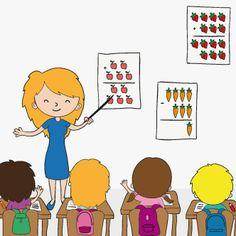 Maestra con alumnos
