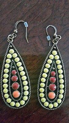 Tribal Multicolor  Beaded Dangling Fashion Earrings