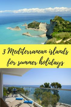 3 Mediterranean islands for summer holidays Corfu, Summer Travel, Holiday Destinations, Golf Courses, Greece, Vacation, Travel Inspiration, Islands, Holidays