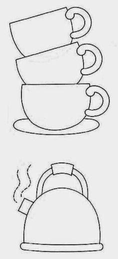 Tea Party Tea Pot Template/Pattern Craft for West Virginia (World\'s ...