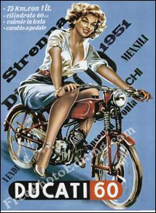 Ducati pin up Bike Poster, Motorcycle Posters, Motorcycle Art, Bike Art, Classic Motorcycle, Motorcycle Girls, Moto Ducati, Ducati Motorcycles, Ducati Desmo