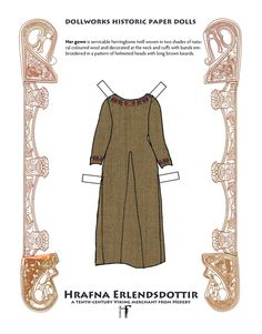 """Viking historic paper doll book Hrafna by FlyingMagpie on Etsy* 1500 free paper dolls at artist Arielle Gabriel""""s The International Paper Doll Society also free China paper dolls The China Adventures of Arielle Gabriel *"""