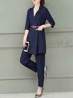 f37bb616277d1 ファッション通販 #Fashion Doresuwe優雅セットアップベルト付きコート レディースファッションガウチョパンツ発表