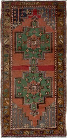 Hand-knotted Anadol Vintage Copper Wool Rug