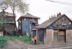 Fred Herzog, Boys on shed on ArtStack #fred-herzog #art