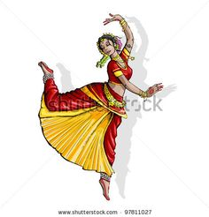 Find Illustration Indian Classical Dancer Performing Bharatnatyam stock images in HD and millions of other royalty-free stock photos, illustrations and vectors in the Shutterstock collection. Thousands of new, high-quality pictures added every day. Dancing Drawings, Music Drawings, Kpop Drawings, Art Drawings, Dance Paintings, Indian Art Paintings, Indian Illustration, Graphic Illustration, Dancer Drawing