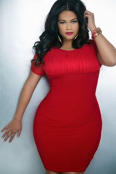 """Stunning red curvy size dress absolutely gorgeous  #curvy   #thick   """"if you like my curvy girl's fall/winter closet, make sure to check out my curvy girl's spring/summer closet.""""   http://pinterest.com/blessedmommyd/curvy-girls-springsummer-closet/pins/"""