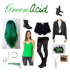 """""""Green Acid"""" by hayleybvb on Polyvore featuring art"""