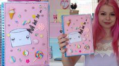 DIY: Kawaii School Supplies / Notebook - YouTube