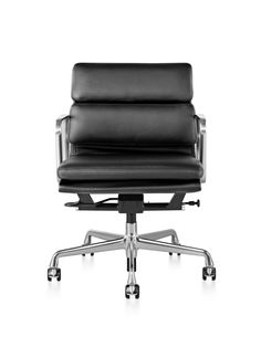 Order your Eames Soft Pad Executive Chair. An original design by Charles and Ray Eames, this modern executive chair is manufactured by Herman Miller. Luxury Office Chairs, Executive Office Chairs, Office Lounge, Luxury Chairs, Office Nook, Soft Seating, Lounge Seating, Outdoor Lounge, D 40