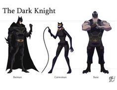 The Dark Knight Animated Line Up by EricGuzman on deviantART Batman And Catwoman, Batman Comic Art, Batman Comics, Batman Robin, Dc Comics, Batman Batman, Batman Stuff, Batgirl, Bruce Timm