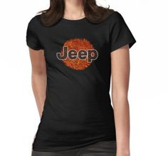 Lava Jeep typograph Womens Fitted T-Shirts #womensfitted #tee #tshirt #clothing #jeep #toyota #landrover #hardtop #bigfoot #car #vehicle #tank #nerd #geek #funny #cool #fandom #steampunk #retro #vintage # stainless #steel #iron #chrome #lava #pattern #red #orange