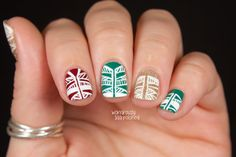 The Digital Dozen does Red, Green & Gold - Day 4: Tribal-esque Print