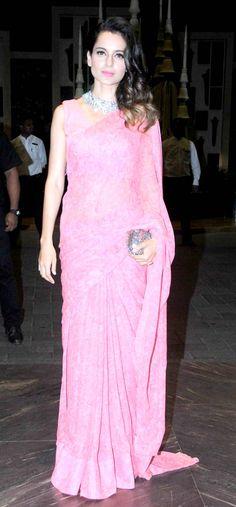 Kangana Ranaut at Shahid Kapoor and Mira Rajput's wedding reception.