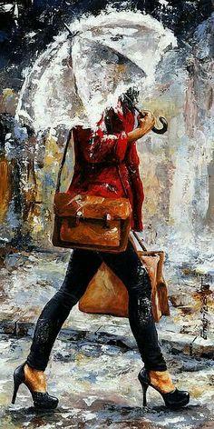 Rainy Day - Women of New York 17 | Emerico Imre Toth