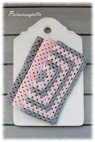 Prinsessajuttu: Isoäidinneliöitä Crochet Home, Love Crochet, Knit Crochet, Crochet Fashion, Handicraft, Diy And Crafts, Projects To Try, Crochet Patterns, Crafty