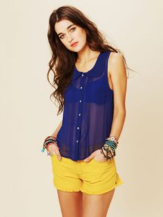 Free People Molly Solid Buttondown, $68.00