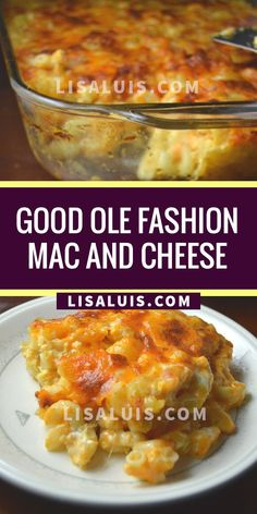 Good Ole Fashion Mac and Cheese – Lisa Luis Recipe's Side Recipes, Easy Healthy Recipes, Veggie Recipes, Easy Dinner Recipes, Pasta Recipes, Cooking Recipes, Veggie Food, Dinner Ideas, Mac And Cheese Homemade