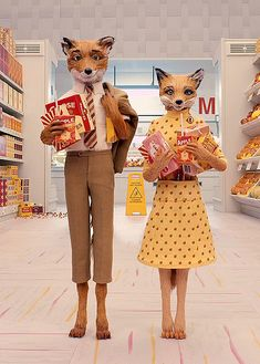 Fantastic Mr. Fox. Based on a novel by Roald Dahl. Directed by Wes Anderson. If anyone should have the pleasure of experiencing this movie please please please never let this movie leave your spirit because it is too beautiful to be forgotten.