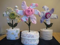 Flower sock diaper cake