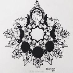 """""""Moon Mandala""""- 2014 by Demi Taylor, via Behance"""