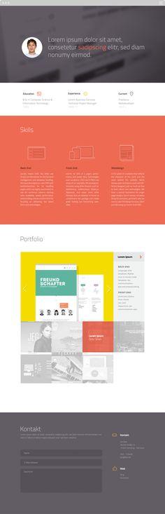 Single Page Portfolio Website by Erfan Talimi , via Behance