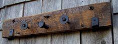 Coat rack Rustic reclaimed Salvage Art por bearpawrustics en Etsy