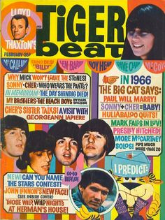 Tiger Beat, February 1966.  This is how teenagers got their celebrity news.