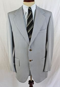 ROUGH RIDERS Walter Smith Blazer Sport Coat Western Striped size 42 L Gold 2 btn #RoughRiders #TwoButton