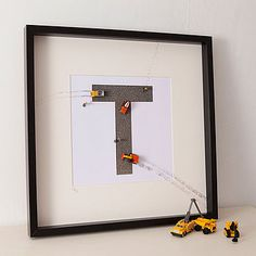 Personalised Construction Toy Letter Art by Berties - modern - kids decor - Not on the High Street Album Photo En Ligne, Modern Kids Decor, Construction Bedroom, Construction Theme, Cuadros Diy, Scrabble Art, Personalized Gifts For Kids, Letter Art, Initial Art